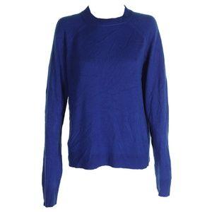 Karen Scott Deep Pacific Blue Mock Neck Sweater XL